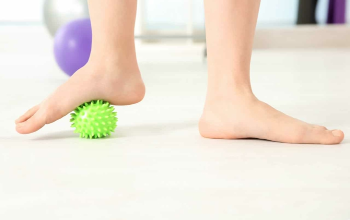 Plattfüsse Übungen plattfuß behandlung mit ball