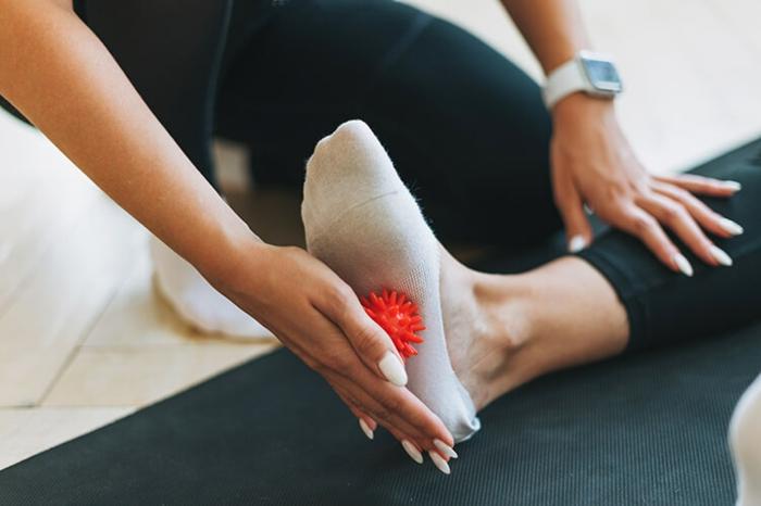 Plattfüsse Übungen plattfuß behandlung mit ball'massage
