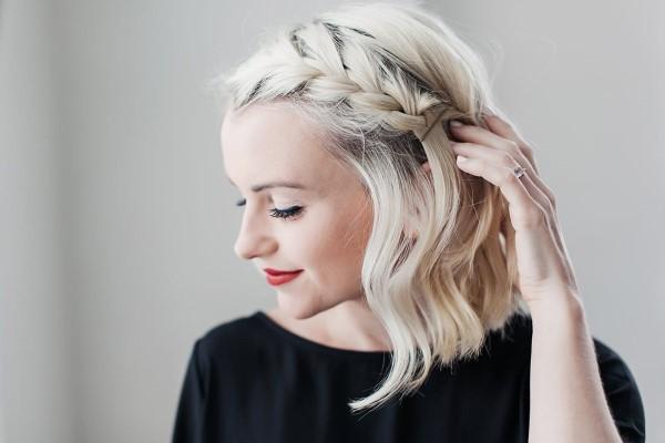 Stilvolle und schöne Frisuren für schulterlange Haare zopf cool modern