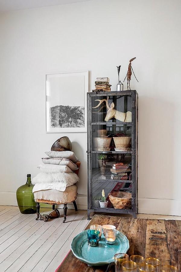 Vitrine dekorieren – Ideen und Tipps für eine gelungene Einrichtung retro rustikale deko landhaus