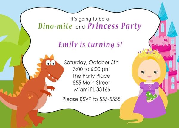 Was schreibt man auf EinladungskartenKindergeburtstag thematische Dinoparty