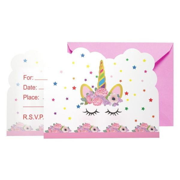 Was schreibt man auf Einladungskarten Kindergeburtstag thematische Geburtstagsparty Mädchen