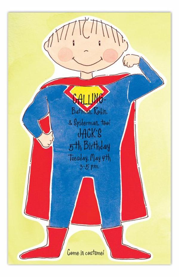 Was schreibt man auf EinladungskartenKindergeburtstag thematische Geburtstagsparty Superhelden