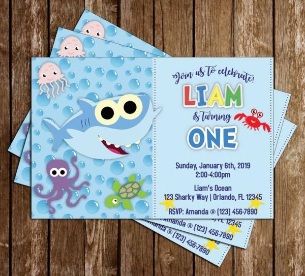 Was schreibt man auf Einladungskarten Kindergeburtstag thematische Poolparty