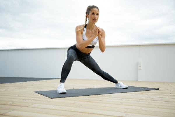 Was sind Hip Dips workout seitlicher Ausfallschritt