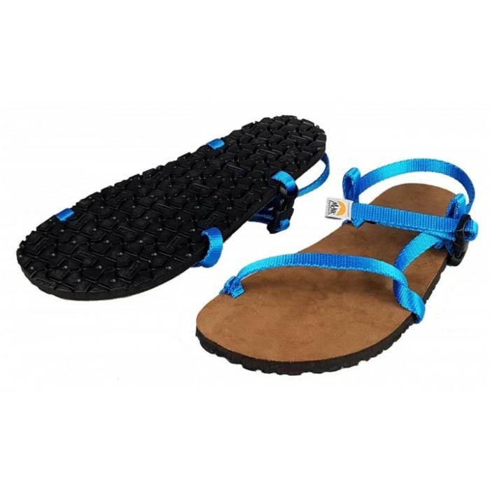 barfuß sandalen minimal blau
