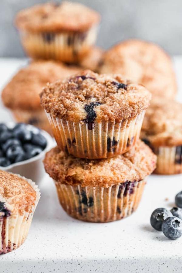 blaubeer muffins mit zimt