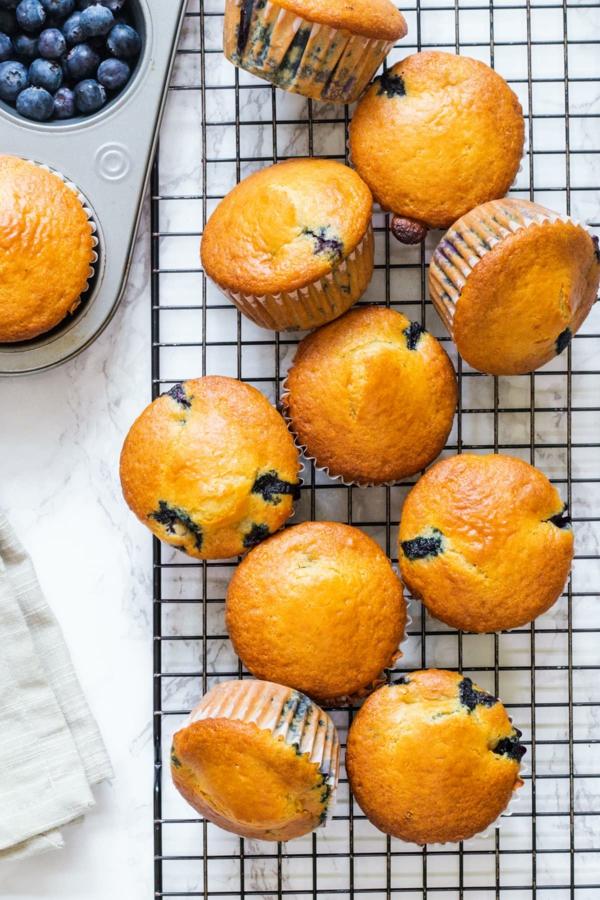 blaubeer muffins selber zubereiten