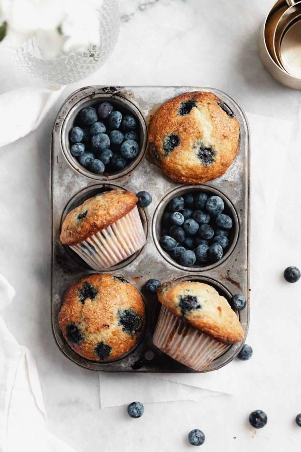 blaubeer muffins zubereiten