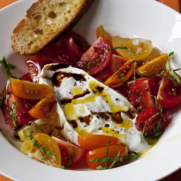 burrata rezept idee sommer salat
