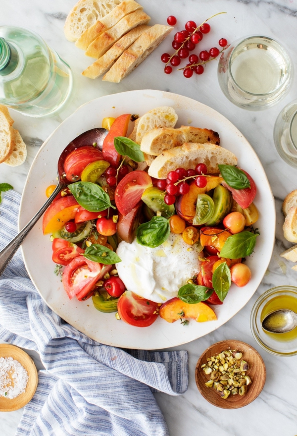 burrata rezept salat tomaten basilikum