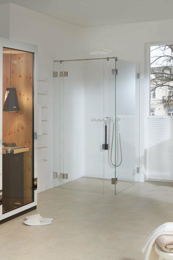 dichtungslose transparente dusche