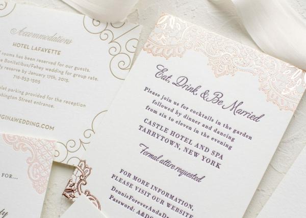 einfache Ideen für Einladungskarten Hochzeit