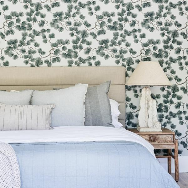 florale fototapeten schlafzimmer