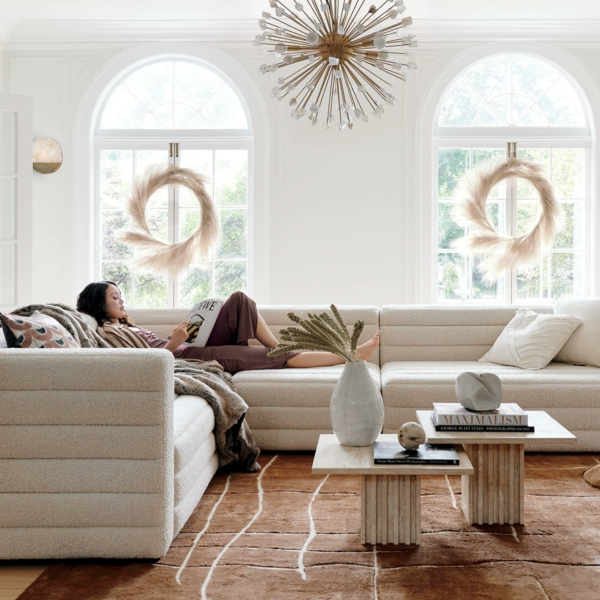 interieur trend bouclé sofa
