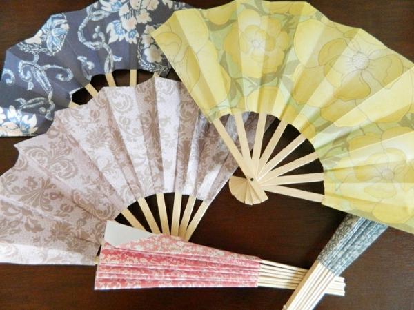 japanische fächer basteln aus geschenkpapier