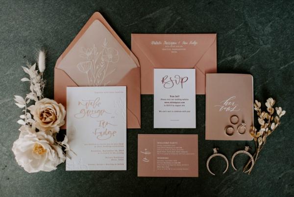 kreative Ideen für Einladungskarten Hochzeit
