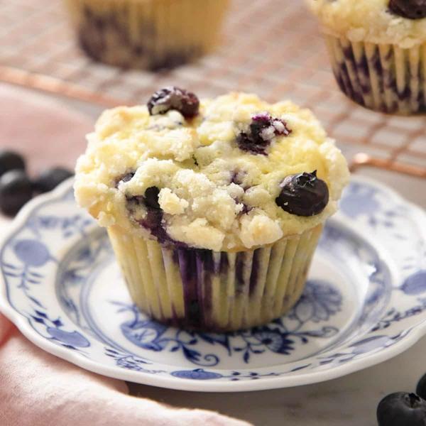 mürbeteig blaubeer muffins zubereiten