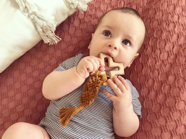 makramee ideen baby beißring selber machen