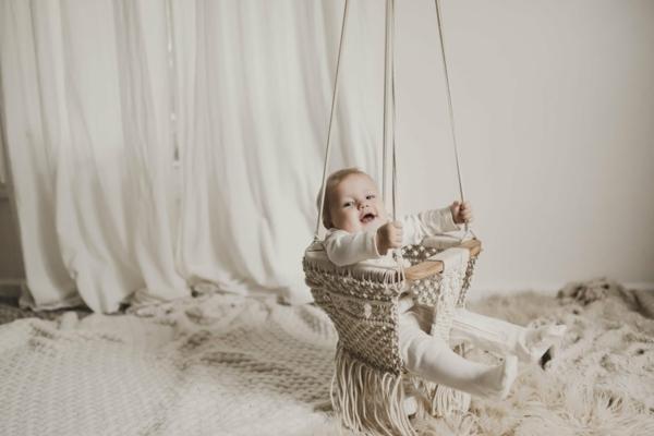 makramee ideen babyzimmer schaukel selber machen