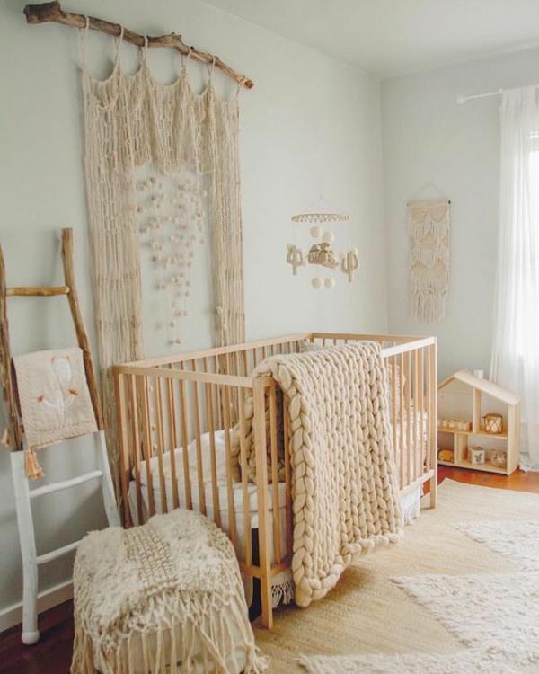makramee ideen fürs babyzimmer