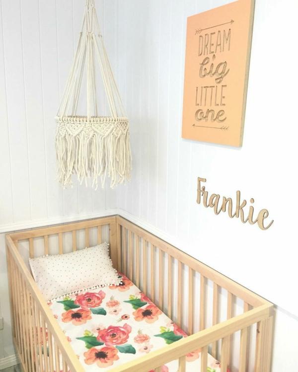 makramee mobile selber machen babyzimmer