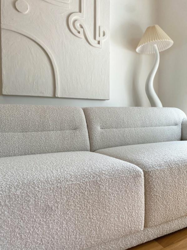 modernes sofa weiß bouclé