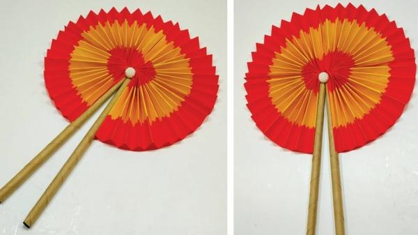 origami fächer basteln aus papier