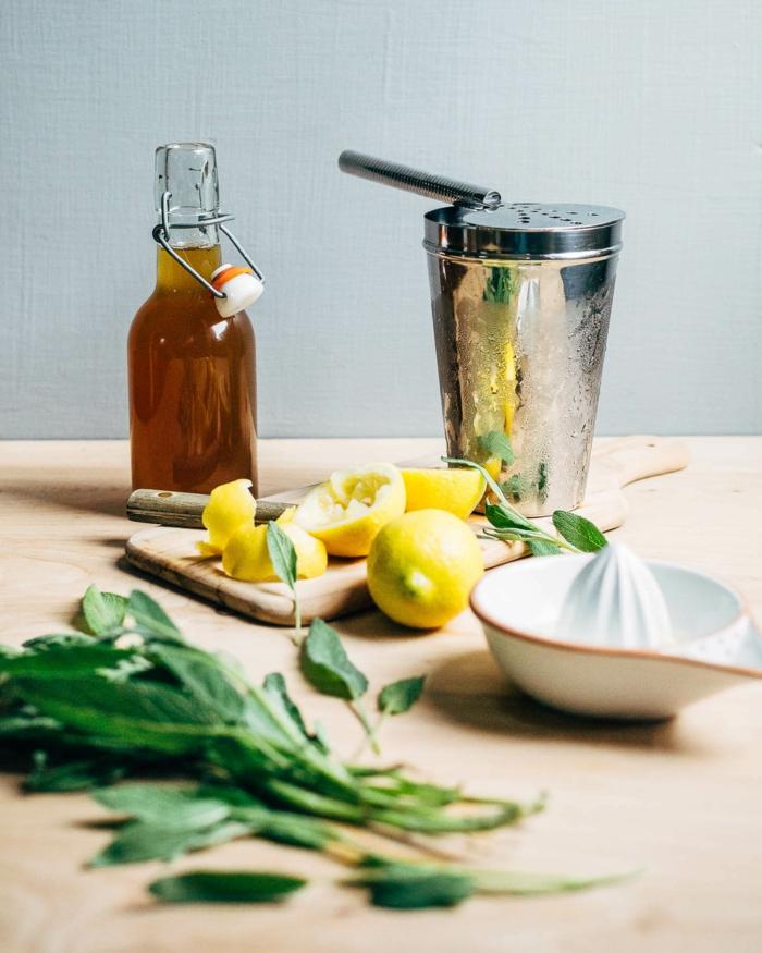 salbei sirup salbei rezepte selber machen honig zitrone