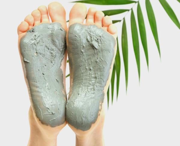 schöne Haut Fußmaske Fußpeeling selber machen
