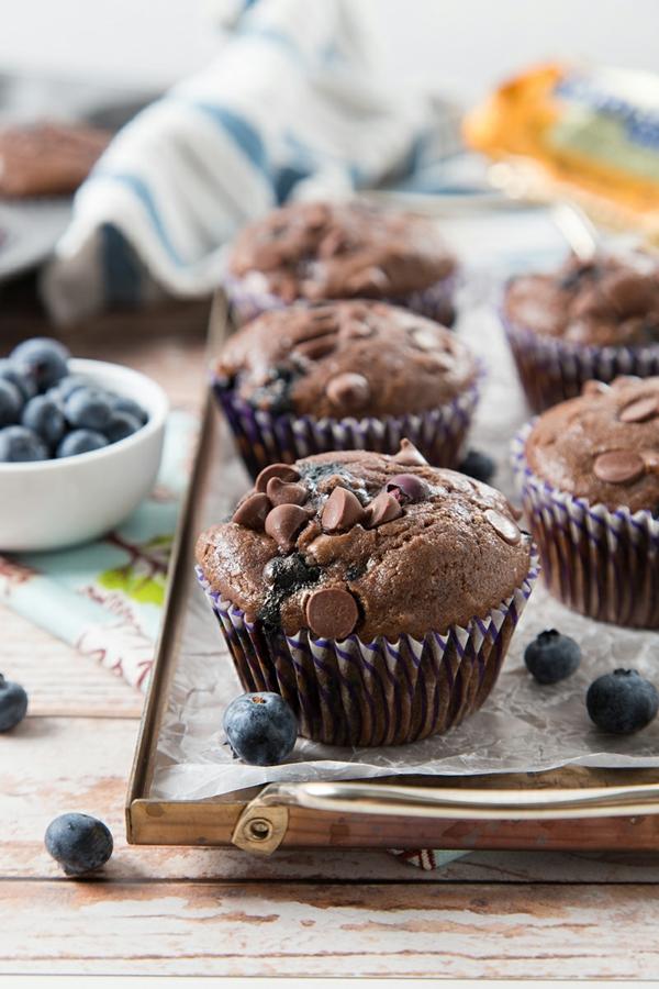 schoko blaubeer muffins