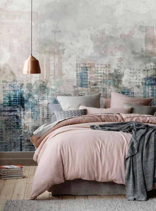 stilvolle fototapeten schlafzimmer