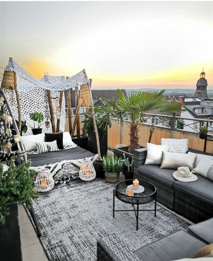 terrasse dekorieren outoddor deko dachteraasse