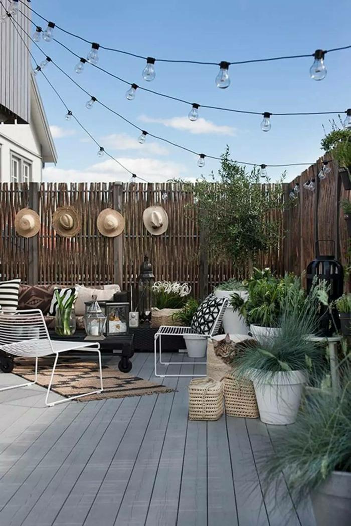 terrasse dekorieren outoddor deko sommerabend