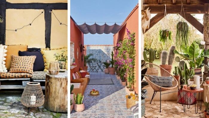 terrasse dekorieren outoddor deko variante