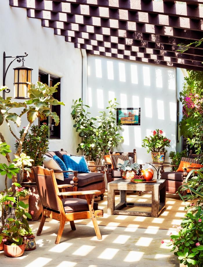 terrasse dekorieren outoddor deko
