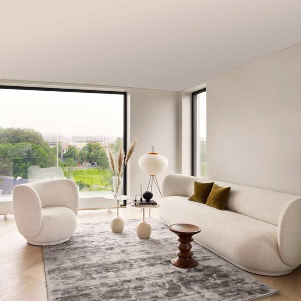 wohnzimmer trend bouclé sofa sessel