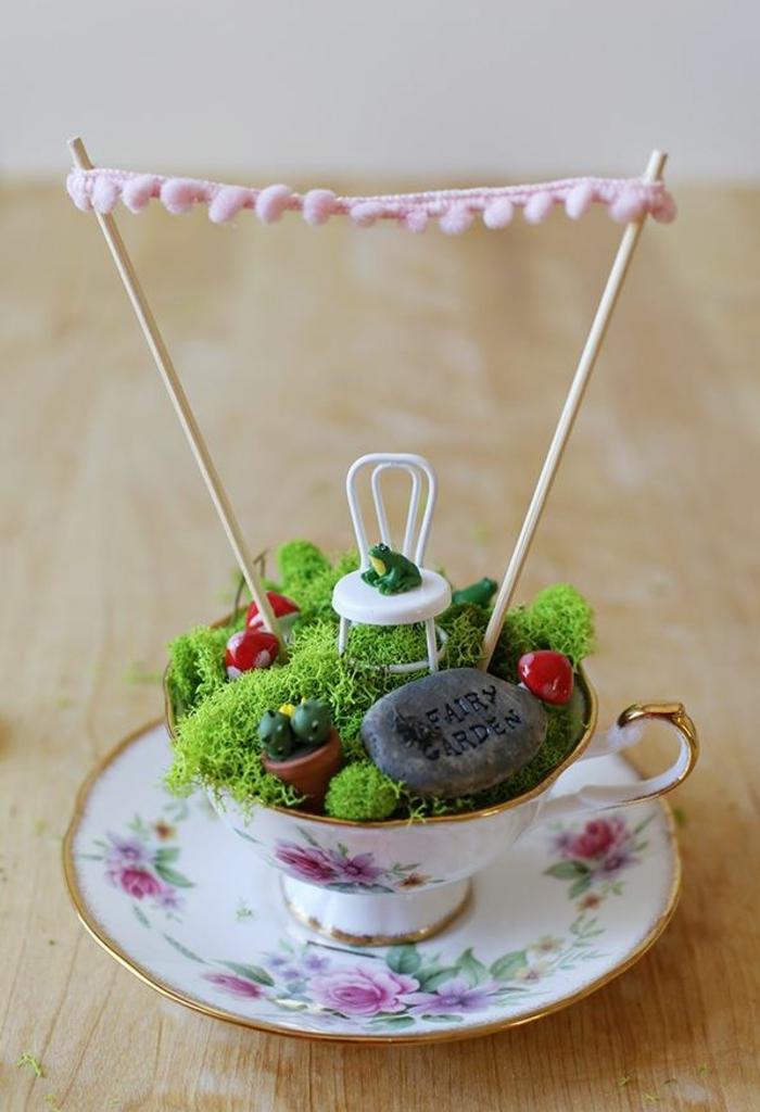 Alte Tassen DIY Ideen weihnachtsdeko creative ideen zaubergarten