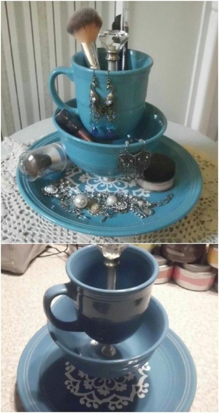 Alte Tassen DIY Ideen weihnachtsdeko kreative ideen
