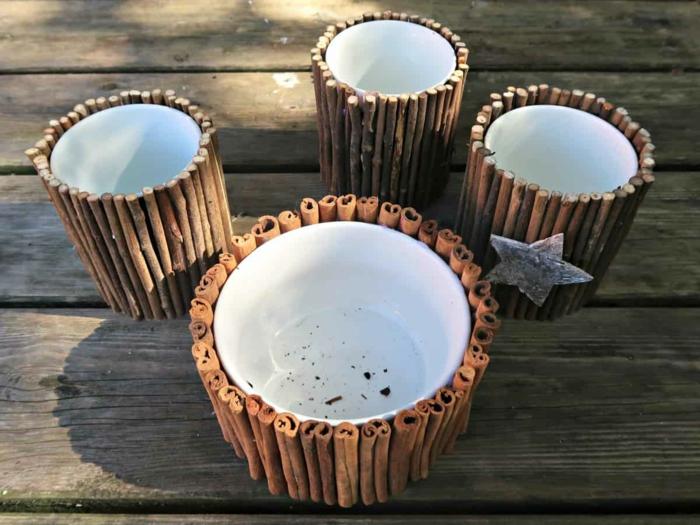 Alte Tassen DIY Ideen weihnachtsdeko