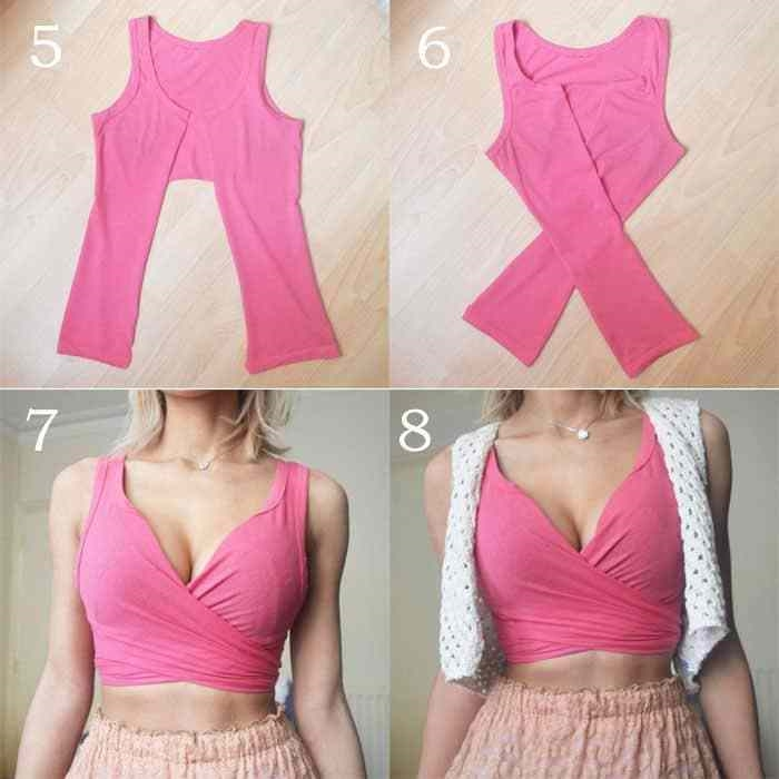 Altes T-Shirt Upcycling ideen bustier