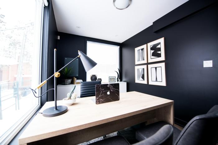 Büromöbel Set dunkel