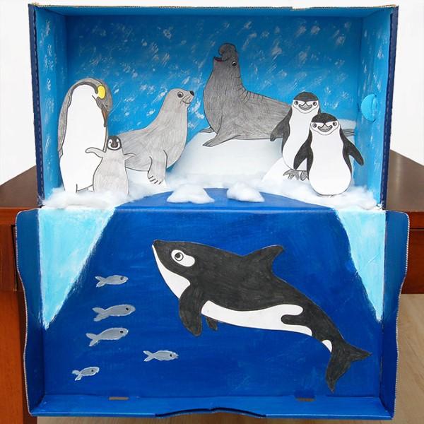 Construa um diorama - idéias criativas e dicas para artistas e amadores do mundo animal da Antártida faça você mesmo
