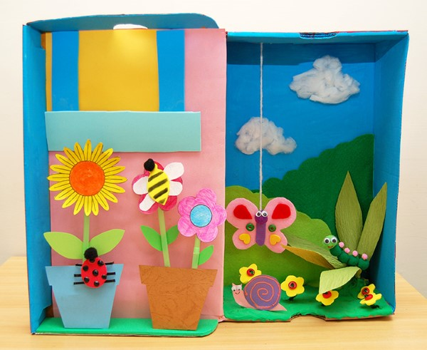 Construindo um diorama - idéias criativas e dicas para artistas e amadores caixa de sapato de papel de jardim diorama