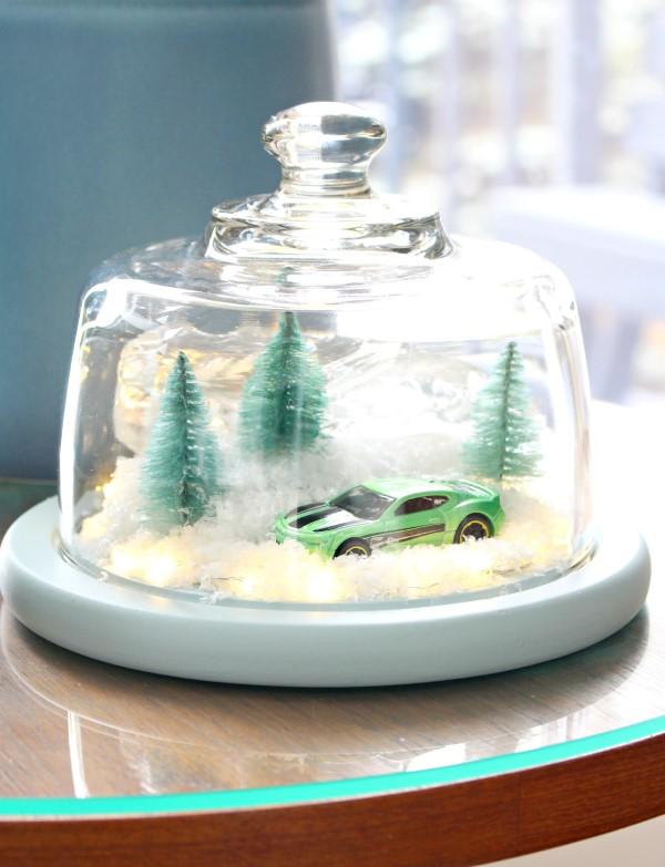 Construir um diorama - idéias criativas e dicas para artistas e amadores paisagem inverno natal carro