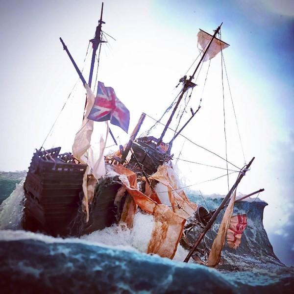 Construindo um diorama - ideias criativas e dicas para artistas e amadores, navios modelos de batalha