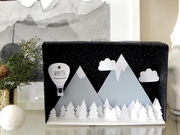Construindo um diorama - idéias criativas e dicas para artistas e amadores paisagem de inverno natal