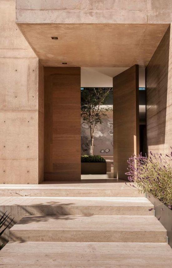 Drehtüren fürs Zuhause am Hauseingang ein mutiges Statement abgeben hochwertiges Stilelement
