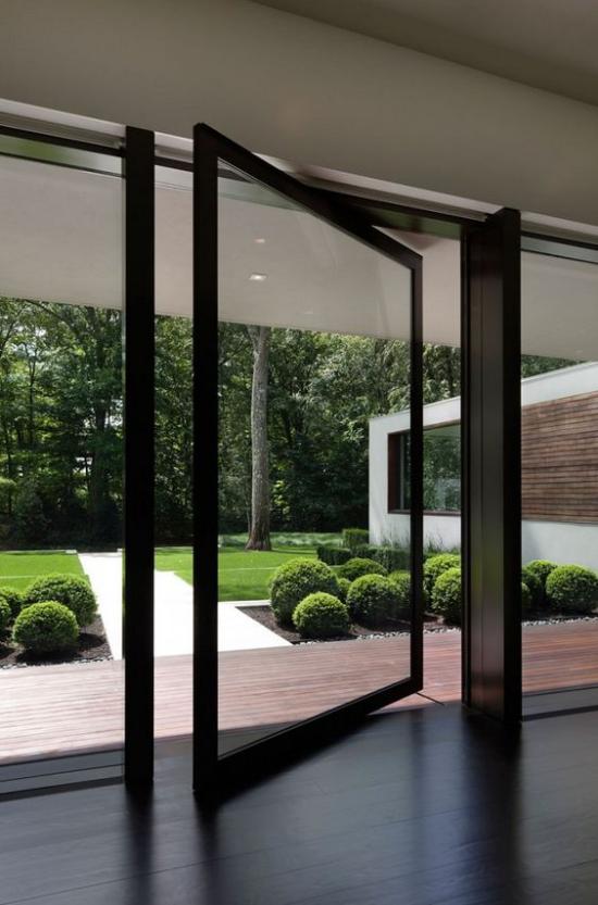 Drehtüren fürs Zuhause elegantes design aus Glas Durchgang zur Veranda zum Outdoor-Bereich