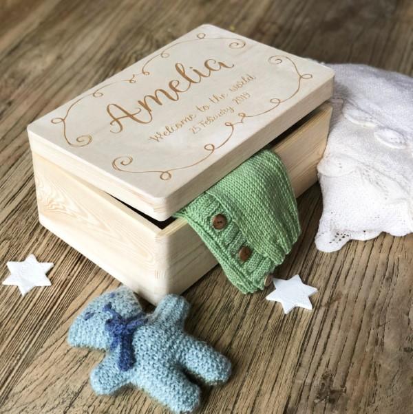 Erinnerungsbox Baby – Dinge, die darin nicht fehlen sollten, sowie weitere DIY Tipps einfache ideen holz box